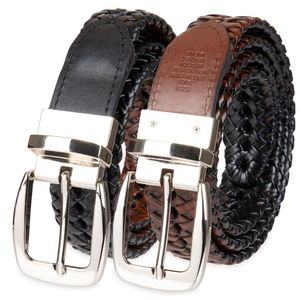Croft & Barrow Reversible Braided Belt Men's